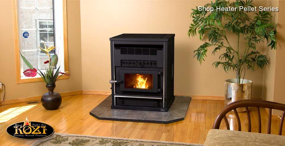 Model KOZI Shop Heater Pellet Stove KSH-DX