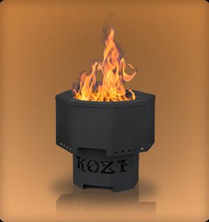 Model KOZI Portable Fire Pit - PFP-15KSH-120-DX