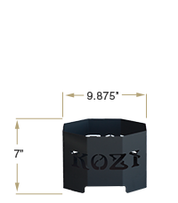 KOZIPortable Fire Pit Base View Specification