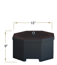 KOZI Portable Fire Pit Compact View Specification
