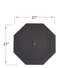 KOZIPortable Fire Pit Top View Specification