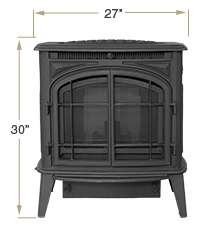 KOZI Previa Cast Iron Front View Specification