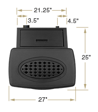 KOZI Previa Cast Iron Top View Specification
