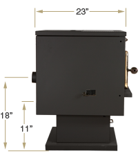 KOZI Model 100 Side View Specification